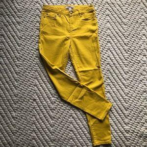 Mustard Yellow Khaki Skinny Pants